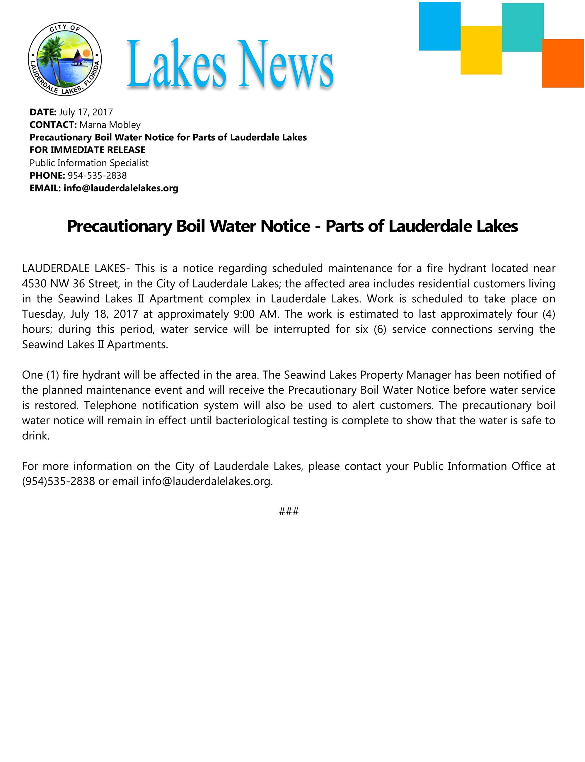 press.precautionary boil water notice 7 18 17